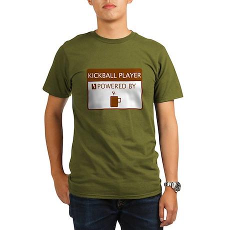 Kickball Player Powered by Coffee Organic Men's T-
