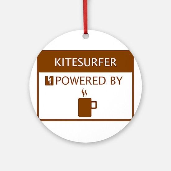 Kitesurfer Powered by Coffee Ornament (Round)