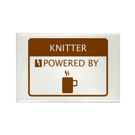 Knitter Powered by Coffee Rectangle Magnet
