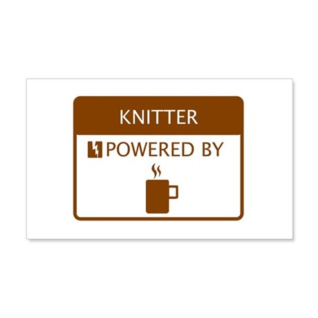 Knitter Powered by Coffee 20x12 Wall Decal