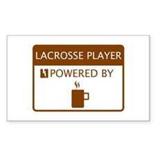 Lacrosse Player Powered by Coffee Decal
