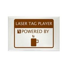 Laser Tag Player Powered by Coffee Rectangle Magne