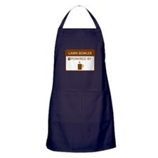Lawn Bowler Powered by Coffee Apron (dark)