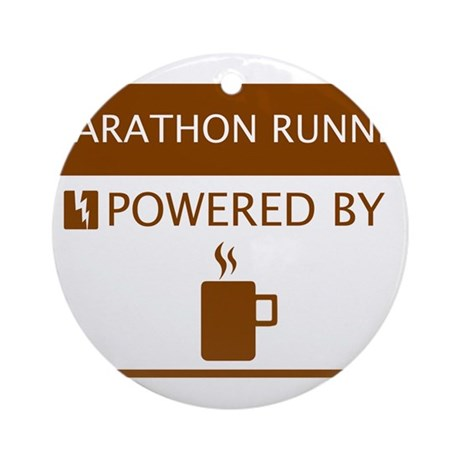 Marathon Player Powered by Coffee Ornament (Round)