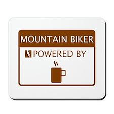 Mountain Biker Powered by Coffee Mousepad