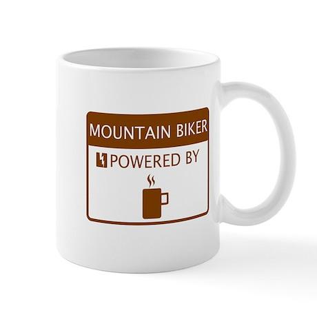 Mountain Biker Powered by Coffee Mug