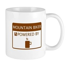 Mountain Biker Powered by Coffee Mug