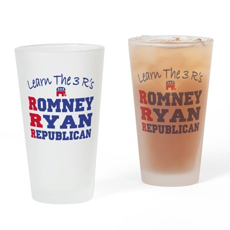Romney Ryan Republican 2012 Drinking Glass