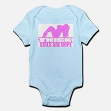 Thick Girls Are Dope Block Infant Bodysuit