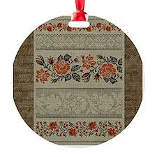 Traditional Ukrainian Embroidery Ornament