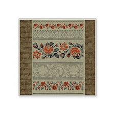 Traditional Ukrainian Embroidery Square Sticker 3&