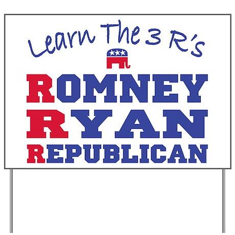 Romney Ryan Republican 2012 Yard Sign