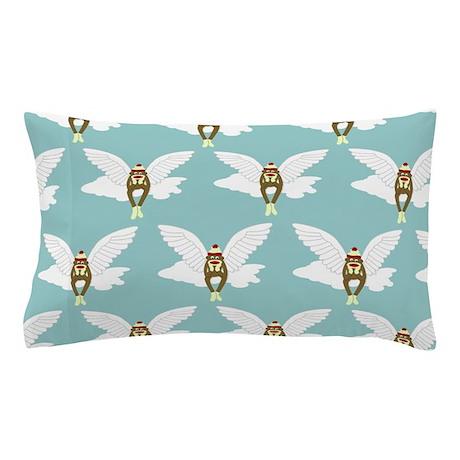 Sock Monkey Guardian Angel Pillow Case