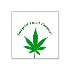"Support Local Farmers Square Sticker 3"" x 3"""