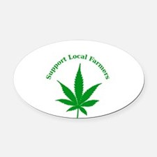 Support Local Farmers Oval Car Magnet