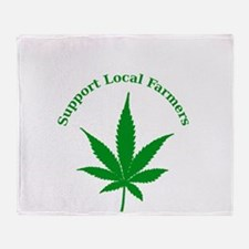 Support Local Farmers Throw Blanket