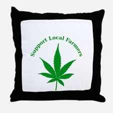 Support Local Farmers Throw Pillow