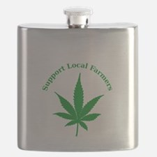 Support Local Farmers Flask