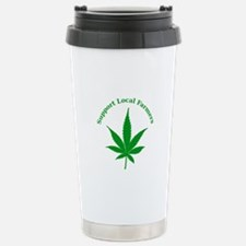 Support Local Farmers Stainless Steel Travel Mug