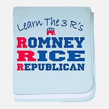Romney Rice Republican 2012 baby blanket
