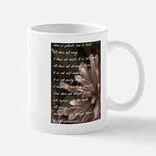 Love Is Patient BW Mug