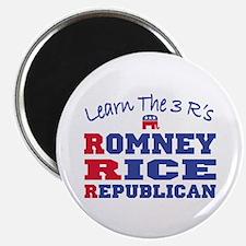"Romney Rice Republican 2012 2.25"" Magnet (100 pack"