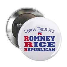 "Romney Rice Republican 2012 2.25"" Button"