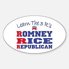Romney Rice Republican 2012 Decal
