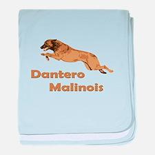 Dantero Malinois Logo - Square baby blanket