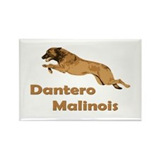 Dantero Malinois Logo - Square Rectangle Magnet