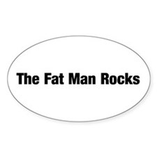 The Fat Man Rocks Decal