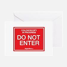 Colonoscopy Do Not Enter Greeting Cards