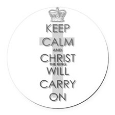 Keep Calm and Christ will carry on Round Car Magne