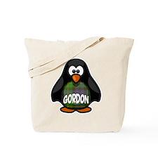 Gordon Tartan Penguin Tote Bag