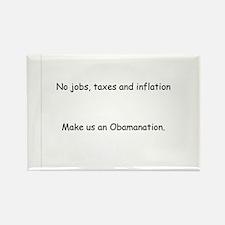Inflation Obamanation Rectangle Magnet