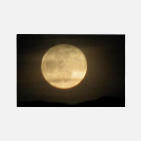 full moon Rectangle Magnet