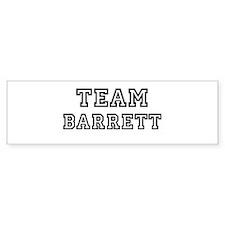 Team Barrett Bumper Bumper Sticker