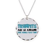 Trumpets Are Awesome Necklace Circle Charm