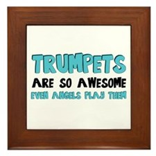 Trumpets Are Awesome Framed Tile