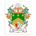 MacShanley Coat of Arms Small Poster