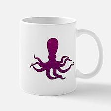 Purple Octopus Mosaic Mug