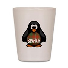 Graham Tartan Penguin Shot Glass