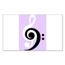 Black and white bond in music Decal