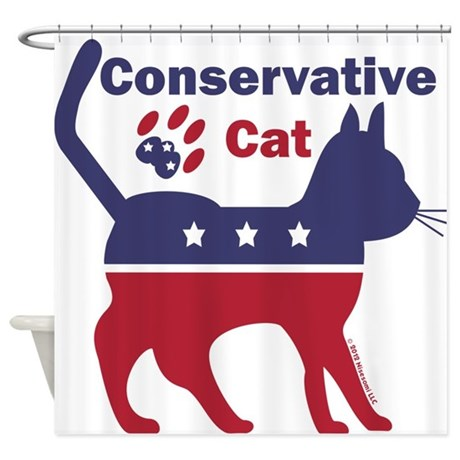 Conservative Cat Intro Shower Curtain