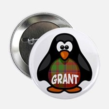 "Grant Tartan Penguin 2.25"" Button"