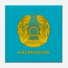 Kazakhstan Coat Of Arms Tile Coaster