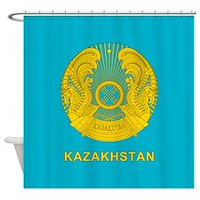 Kazakhstan Coat Of Arms Shower Curtain