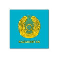 "Kazakhstan Coat Of Arms Square Sticker 3"" x 3"""