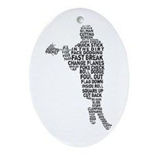 Lacrosse Lingo Ornament (Oval)