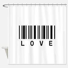 Love Barcode Shower Curtain